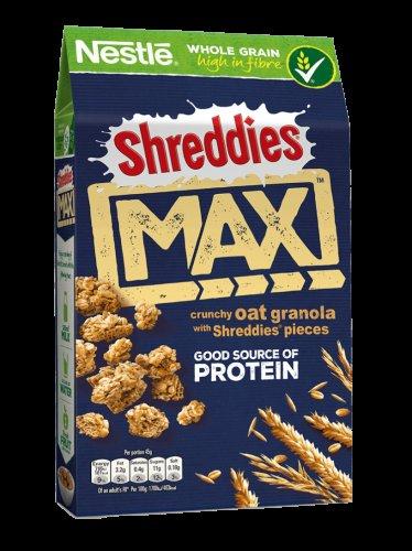 Shreddies Max Crunchy Oat Granola 400g was £2.46 now £1.43 @ Morrisons