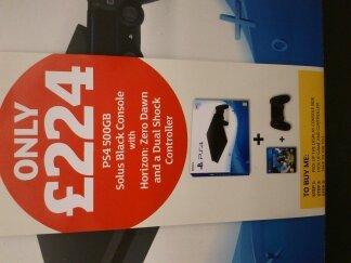 PS4 slim +Horizon: Zero Dawn + Sony DualShock 4 £224 @ Sainsbury's