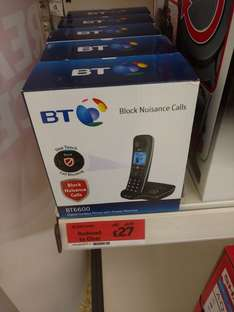 BT 6600 Nuisance Call Blocker Cordless Home Single Phone - Sainsburys reduced to £27 from £45
