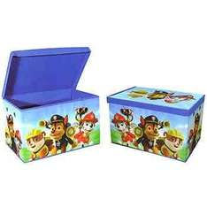 Back in stock 2 for £10, £7 each Paw patrol storage @ the works free c&c delivery £2.99 free over £20