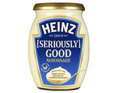 Heinz Seriously Good Mayonnaise 64p instore at Tesco