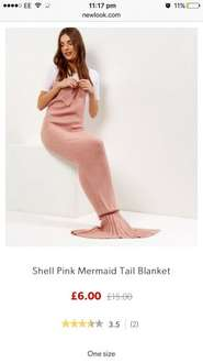 Shell pink mermaid tail blanket now reduced further to £6 at New Look online