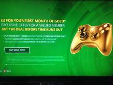 Xbox Live Gold 1 Month (account specific on dashboard) - £2