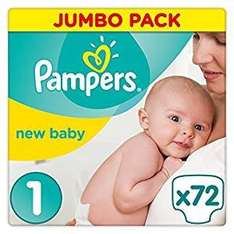 Pampers New Baby Size 1 nappies pack of 72 (prime only) - £4.80