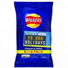Walkers cheese and onion crisps (5 pack *25g)just 50p rrp £1@poundstretcher