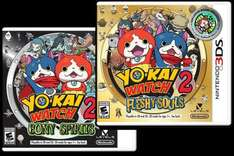 Yo Kai Watch 2 Bony Spirits or Fleshy Souls Nintendo 3DS pre-order £28 Each. @ Amazon