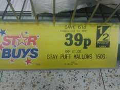 Stay Puft Marshmallows 160g Bag 39p @ Home Bargains