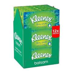 Kleenex Balsam Tissues Pack of 12 - £12 @ Amazon [Prime exclusive]