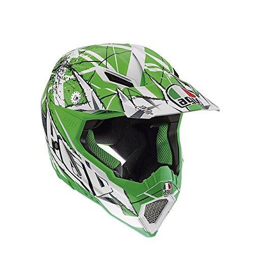 AGV Helmet, AX 8 EVO E2205, Scratch White/Green, 7 £34.92 @ Amazon