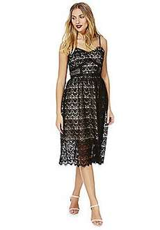 Black lace midi dress £5 free c&c reduced from £80 @ Tesco direct