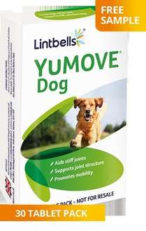 Sign up for a free YuMOVE Dog sample pack!