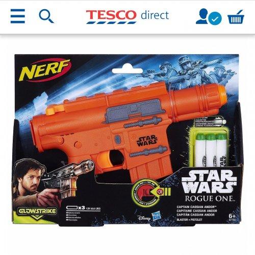 Star Wars Rogue One Nerf Glowstrike Captain Cassian Andor blaster £10.99 @ tesco (free c&c)