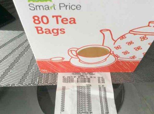 Asda smart price Tea bags 13p instore