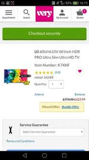 LG 60UH615V 60 inch HDR pro Tv £630.98 with code very.co.uk