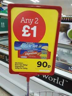 McVities rich tea & digestive biscuits  2 for £1 instore at Iceland