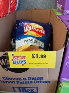 18 packs of Walkers C&O flavour  £1.99 instore @ home bargains