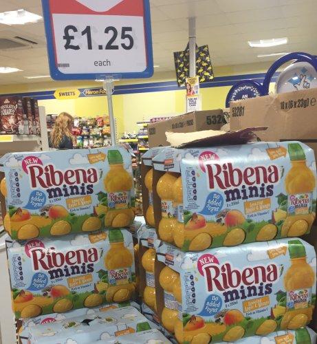 8 Pack Ribena minis 200ml £1.25 apple & mango @ Heron foods Hull