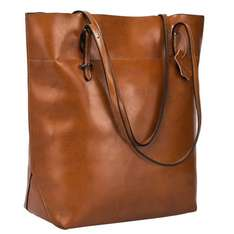 S-ZONE Vintage Genuine Leather Tote Shoulder Bag Handbag Big Large Capacity (Dark Brown) £27.40 - Sold by TYFung and Fulfilled by Amazon