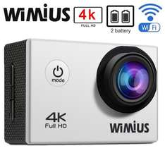 WiMiUS 4K 16MP Action Camera - £36.99 - Blue or Silver - Sold by Efine and Fulfilled by Amazon
