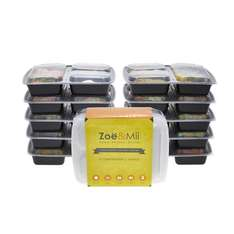 [10 Pack] Premium 3-Compartment Meal Prep Food by Zoe & Mii £11.70 for prime fulfilled by Amazon