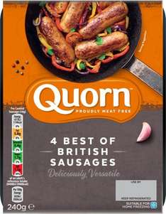 Quorn Chef's Selection Meat Free Best of British Sausages (4 per pack - 240g) was £2.20 now £1.25 @ Sainsbury's