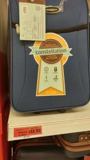 Carry on suitcase was £18.75 now £12.50 in store at Sainsburys.