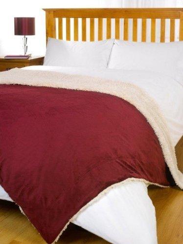 Dreamscene Cosy Sherpa Luxurious Throw Blanket, Burgundy @ Amazon £9.99 Prime / £14.74 Non-Prime