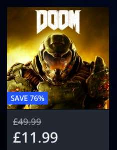 DOOM PS4 £11.99 on PSN (76% off)