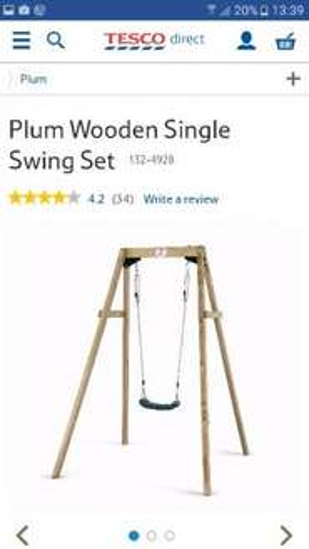 Plum Wooden Swing £30 @ Tesco Direct