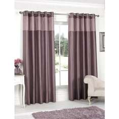 """Pleated Top Border Fully Lined Curtain (Various sizes including 90""""by 90"""") 4 Colours £1 @ B&M In store"""