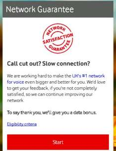 Vodafone free 250mb of data