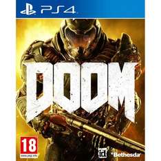 Doom PS4 click and collect £10 at smythstoys