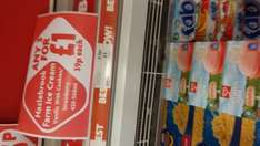 Hazelbrook  ice cream  blocks 39p each or 3 for  £1 in store heron foods