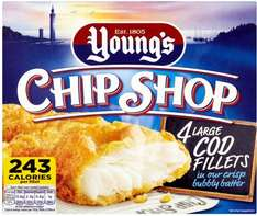 Young's Chip Shop Large Cod (54%) Fillets in Bubbly Batter (480g) was £3.75 now £2.50 @ Iceland