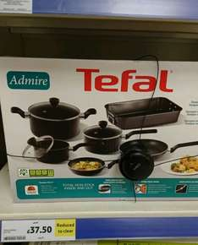 Tefal 6 piece pan set - £37.50 instore @ Tesco (found Stratford)