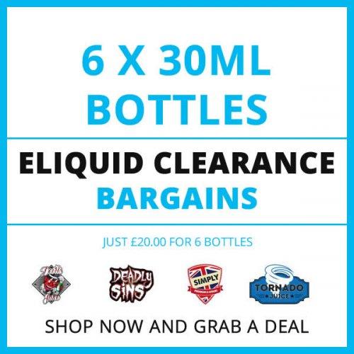 6 x 30ml Bottles of Premium Eliquid ( various flavours ) £20 delivered @ Fresh Mist
