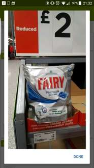Fairy Platinum all in one dishwasher tablets 30 pack £2 Asda