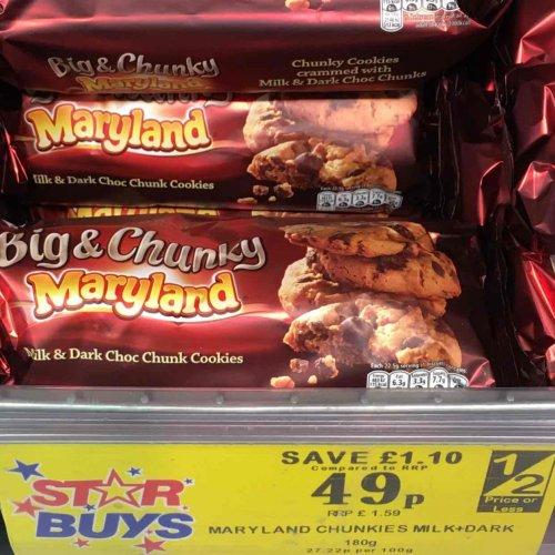 Maryland Big Chunky Cookies 49p @ Home Bargain store Leeds city