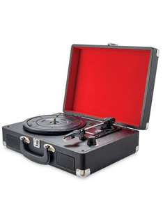 """Retro Vintage 3 Speed Suitcase Turntable Aux & USB Sockets 7 8 10 12"""" Compatible +Free P&P Ebay / dmtrading2011 £14.99"""