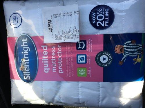 Silentnight Single Quilted Mattress Protector - £2.50 - Tesco Elgin