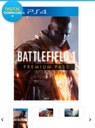 Battlefield  1 premium ( season pass only) on ps4 £36.99 @ CDkeys back in stock!