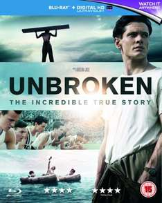 Unbroken (with UltraViolet Copy) [Blu-ray] £3.64 Blu-Ray with free delivery using code SIGNUP10 @ zoom.co.uk