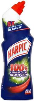 Harpic Toilet Cleaner Limescale Remover Liquid (750ml) was £2.00 now £1.00 (Rollback Deal) @ Asda@ Asda