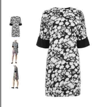 Warehouse brushed floral shift dress now £18 @ house of Fraser £2 c&c or £3.95 postage
