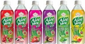 TAJ Aloe Vera drink (Strawberry, possibly others) 500ml £0.39 @ Heron