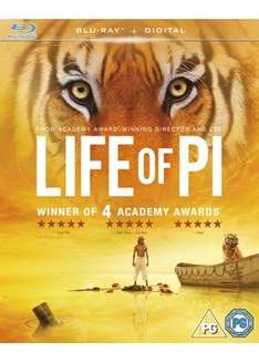 Life Of Pi (Blu-Ray) £3.39 includes FREE UK Postage @ Base