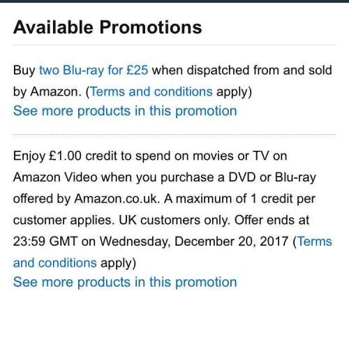 Star Wars Steel books bluray . 2 for £25 @ amazon