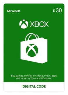 Xbox Live Credit £30 for £25.90 at Amazon