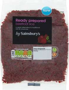 Sainsbury's Beetroot Rice 300g Only 50p: Save 75p