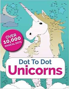 Unicorn Dot to Dot Book (over 10000 Dots) £2.40 C+C with code or £3 Delivered @ The Works